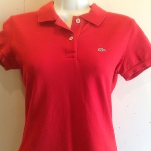 LAcoste women's fitted Red polo